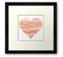 White Peach  Framed Print