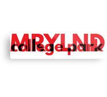 MRYLND college park (red) Metal Print