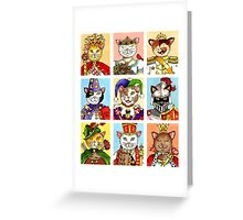 The Royal Court of Cats Greeting Card