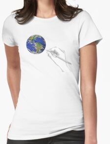 Drawing the World Womens Fitted T-Shirt