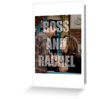 Ross And Rachel Friends TV Greeting Card