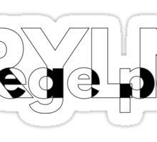MRYLND college park (B&W) Sticker