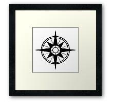 Nautical Compass Framed Print