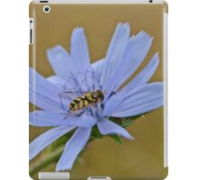 Insect on a Blue Flower iPad Case/Skin