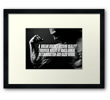 Dream and Reality Framed Print