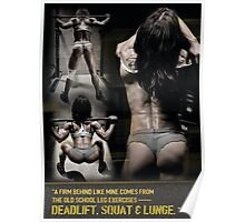 Deadlift, Squat And Lunge For A Firm Behind Poster