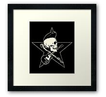 Rock-n-Roll Skull Framed Print
