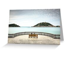 View Bench - San Sebastian, Spain Greeting Card