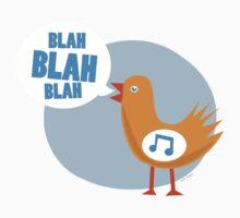 blah blah blah bird One Piece - Long Sleeve