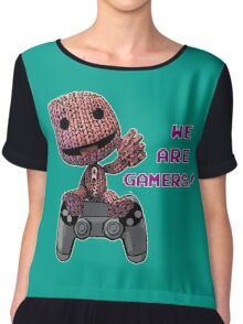 Inspired by Sackboy of Little Big Planet Chiffon Top
