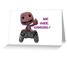 Inspired by Sackboy of Little Big Planet Greeting Card