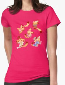 Cosplay Pika Pattern Womens Fitted T-Shirt