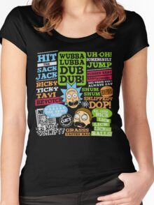 Wubba Lubba Dub Dub !! Women's Fitted Scoop T-Shirt