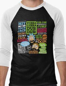 Wubba Lubba Dub Dub !! Men's Baseball ¾ T-Shirt