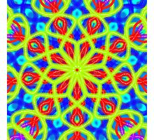 Mandala With Yellow Red And Blue Photographic Print