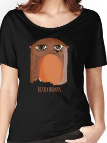Bear Watercolor Bearly Human Woodland Funny Print Women's Relaxed Fit T-Shirt