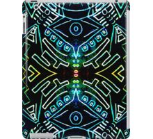 symmetry line pattern blue iPad Case/Skin