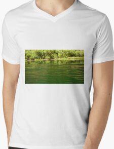 Greenery Mens V-Neck T-Shirt