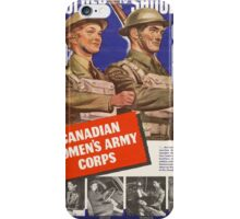 Vintage poster - Canadian Women's Army Corps iPhone Case/Skin