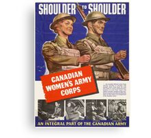 Vintage poster - Canadian Women's Army Corps Canvas Print