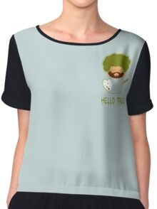 Bob ross happy tree t shirt Chiffon Top