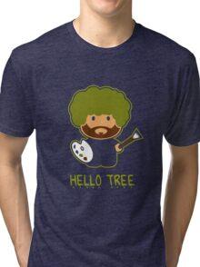 Bob ross happy tree t shirt Tri-blend T-Shirt