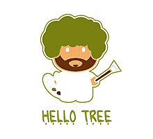 Bob ross happy tree t shirt Photographic Print
