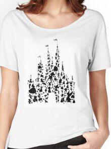 Character Castle Silhouette  Women's Relaxed Fit T-Shirt