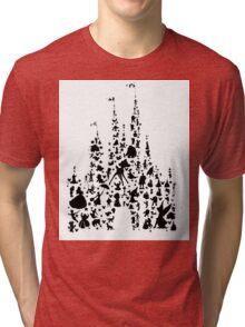 Character Castle Silhouette  Tri-blend T-Shirt