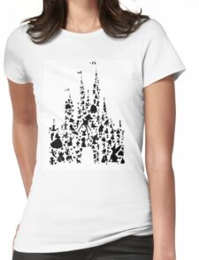 Character Castle Silhouette  Womens Fitted T-Shirt