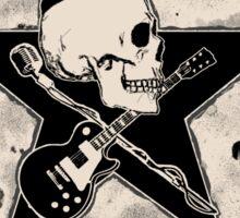 Rock-n-Roll Skull - bleached Sticker