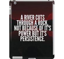 A River Cuts Through A Rock With Persistence iPad Case/Skin