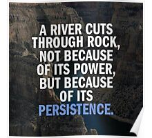 A River Cuts Through A Rock With Persistence Poster