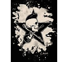 Rock-n-Roll Skull - bleached Photographic Print