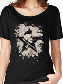 Rock-n-Roll Skull - bleached Women's Relaxed Fit T-Shirt