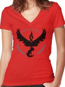 Team Valor (Basic) Women's Fitted V-Neck T-Shirt