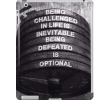 Being Defeated Is Optional iPad Case/Skin