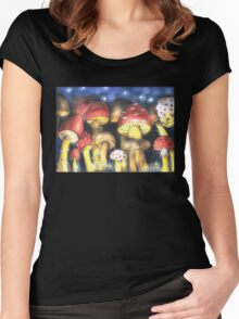 A Night by Mushroom's Light Women's Fitted Scoop T-Shirt