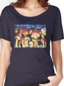 A Night by Mushroom's Light Women's Relaxed Fit T-Shirt