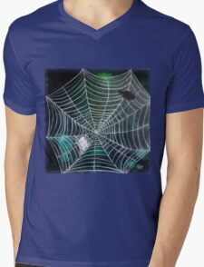 Spidey Woman | Black Widow Mens V-Neck T-Shirt