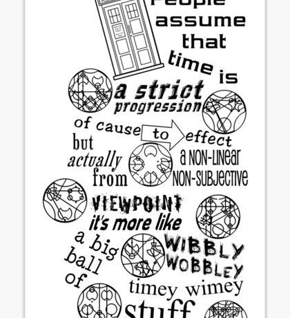 Doctor Who Timey Wimey Sticker