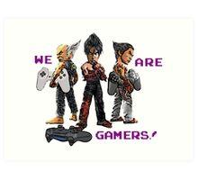 Inspired by Heihachi, Jin and Kazuya of Tekken Art Print