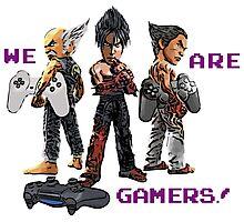 Inspired by Heihachi, Jin and Kazuya of Tekken Photographic Print