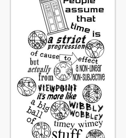 Doctor Who Timey Wimey Stuff Sticker