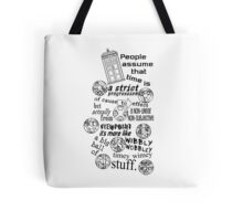 Doctor Who Timey Wimey Stuff Tote Bag