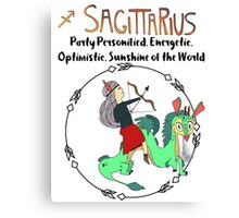 Children's Zodiac - Sagittarius Girl Canvas Print