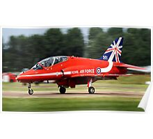Red Arrows T1 Hawk Poster