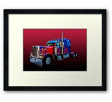 Optimus Prime 2 Framed Print