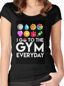Pokemon - I GO TO THE GYM EVERY DAY Women's Fitted Scoop T-Shirt