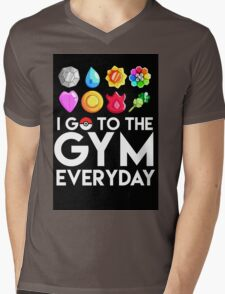 Pokemon - I GO TO THE GYM EVERY DAY Mens V-Neck T-Shirt